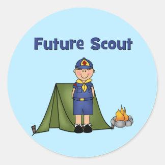 Future Boy Scout Classic Round Sticker