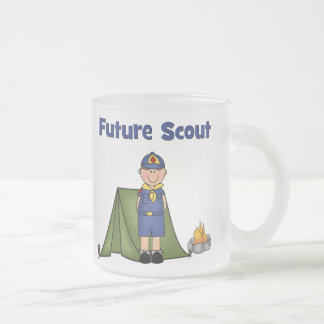 Future Boy Scout Frosted Glass Coffee Mug