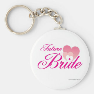 Future Bride 1 hearts.jpg Keychain