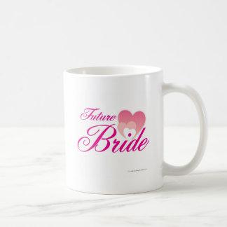 Future Bride 1 hearts.jpg Classic White Coffee Mug