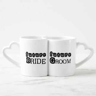 Future Bride and Groom Lovers Mugs Couples' Coffee Mug Set