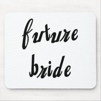 Future Bride Black Text Mouse Pad