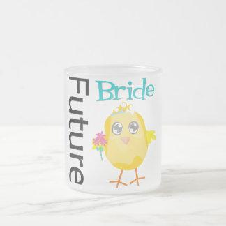 Future Bride Chick 10 Oz Frosted Glass Coffee Mug