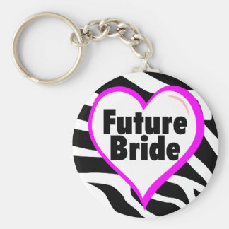 Future Bride Zebra Stripes Keychain