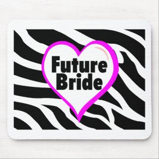 Future Bride (Zebra Stripes) Mouse Pad