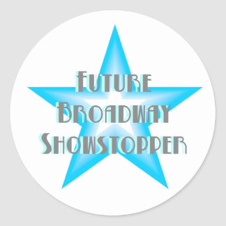 Future Broadway Showstopper (Blue) Stickers