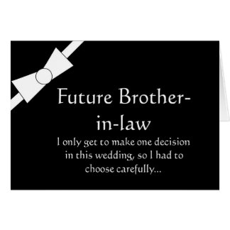 Future Brother in Law Best Man Request Invitation