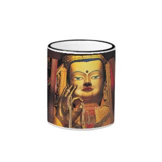 Future Buddha ring mug black