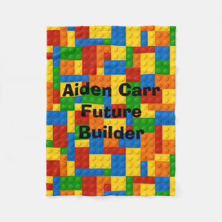 Future Builder Blocks - Fleece Baby Blanket