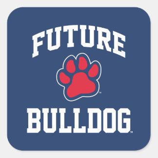 Future Bulldog Square Sticker