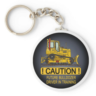 Future Bulldozer Dozer Driver Key Chain