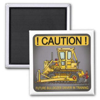 Future Bulldozer Dozer Driver Magnet
