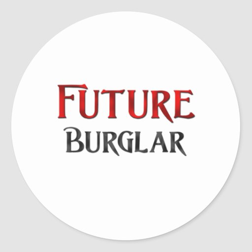 Future Burglar Sticker