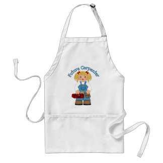 Future Carpenter Construction Worker- GIRLS Adult Apron