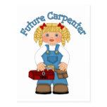 Future Carpenter Construction Worker- GIRLS Postcards