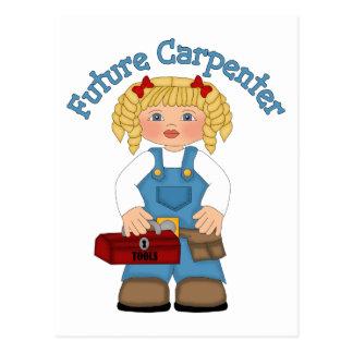 Future Carpenter Construction Worker- GIRLS Postcard