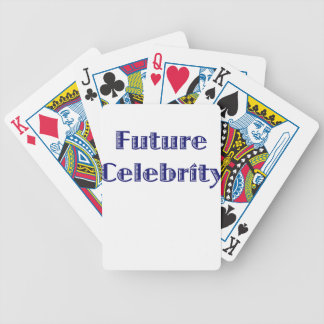 Future Celebrity Bicycle Playing Cards