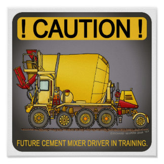 Future Cement Mixer Truck Driver Poster Print
