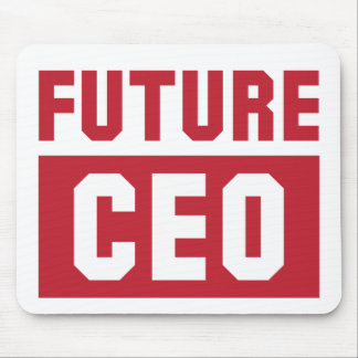 Future CEO Chief Executive Officer Businessman Mouse Pad