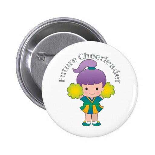 Future Cheerleader 2 Inch Round Button
