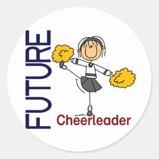 Future Cheerleader Stick Figure Classic Round Sticker