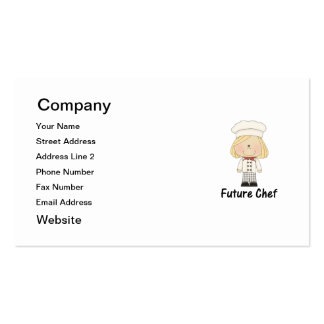 future chef (girl) business card template
