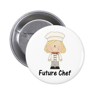 future chef (girl) buttons