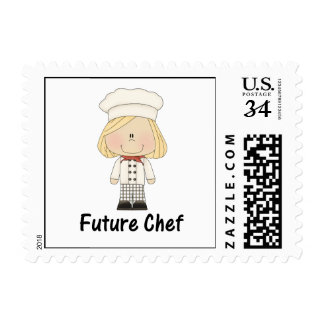 future chef (girl) postage