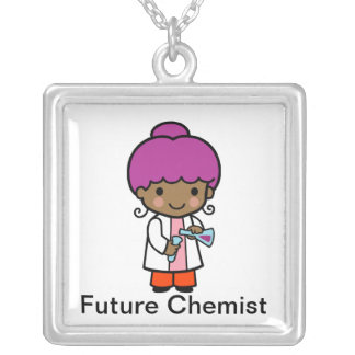 Future Chemist Silver Plated Necklace