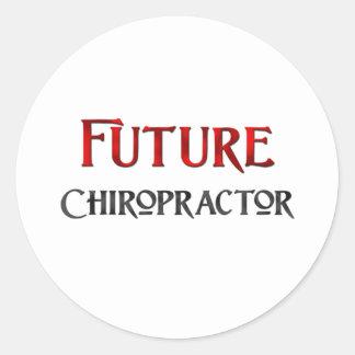 Future Chiropractor Classic Round Sticker