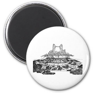 Future City 2 Inch Round Magnet