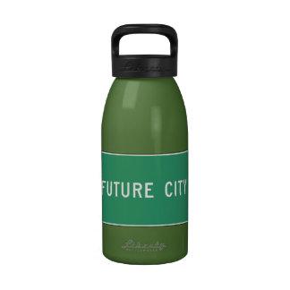 Future City, Road Marker, Illinois, USA Drinking Bottle