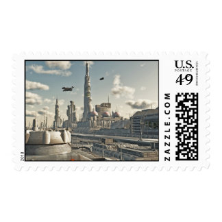 Future City Streets Postage Stamp
