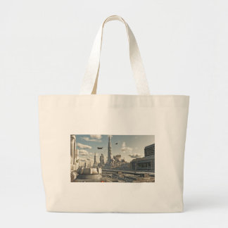 Future City Streets Tote Bag