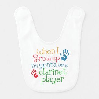 Future Clarinet Player Baby Bib