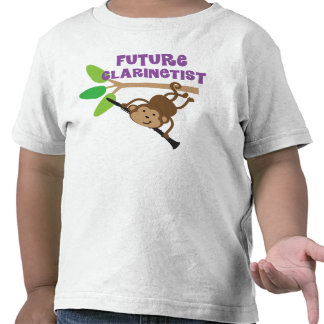 Future Clarinetist Music Monkey T-shirt