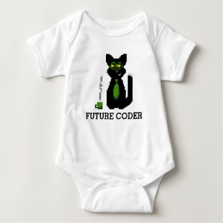 Future Coder Programmer Cat Baby Bodysuit