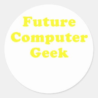 Future Computer Geek Classic Round Sticker
