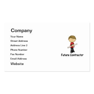 future contractor business card