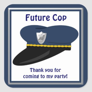 Future Cop Police Hat Party Favors