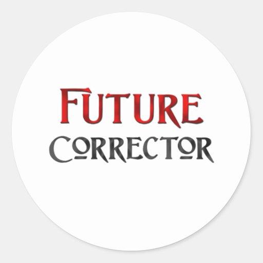 Future Corrector Classic Round Sticker