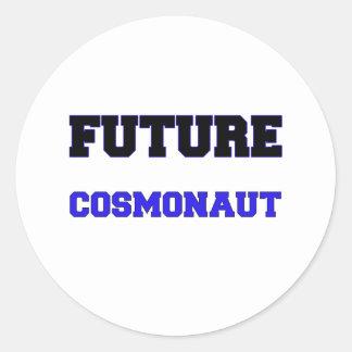 Future Cosmonaut Round Sticker
