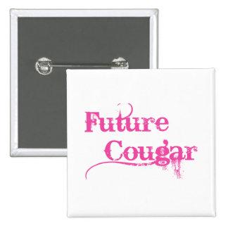 Future Cougar 2 Inch Square Button