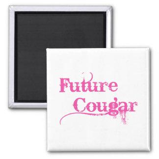 Future Cougar 2 Inch Square Magnet