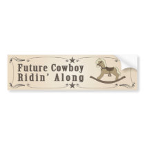 Future Cowboy Bumper Sticker