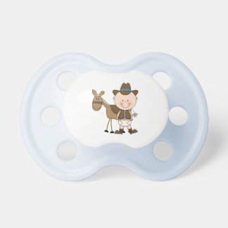 Future Cowboy in Western Wear Pacifier
