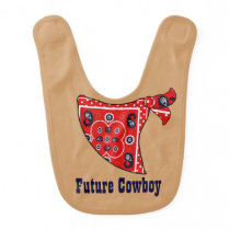 Future Cowboy Red Bandana Shower Gift - Bib