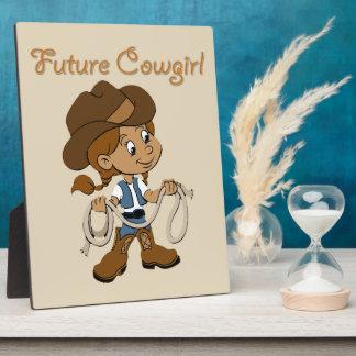 Future Cowgirl Dark Skin When I Grow Up Plaque