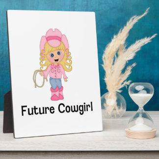 Future Cowgirl Plaque