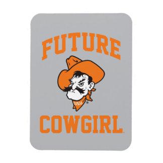 Future Cowgirl Rectangular Photo Magnet